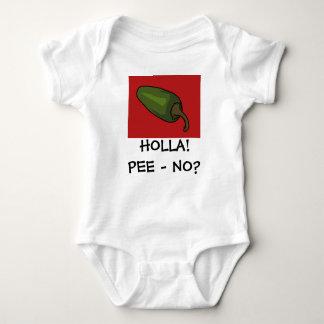 HOLLA! PEE - NO? BABY BODYSUIT