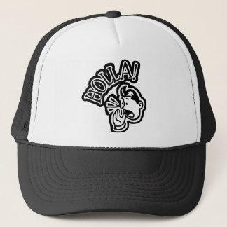 HOLLA! Retro Guy - Black & White Trucker Hat