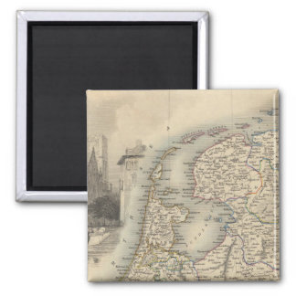 Holland 2 Inch Square Magnet