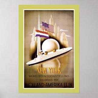 Holland America Line New York Poster