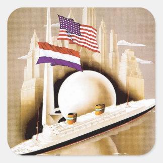 Holland America Line New York Square Sticker