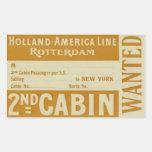 Holland América Line Rotterdam Pegatina Rectangular