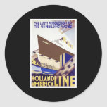 Holland America Line Round Stickers