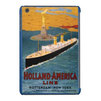 Holland America Line Vintage Poster Restored iPad Mini Retina Covers