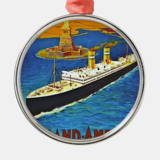 Holland America Line Vintage Travel Poster Ornaments