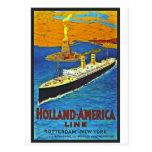 Holland America Line Vintage Travel Poster Postcards