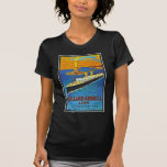 Holland America Line Vintage Travel Poster Tees