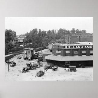 Holland American Docks: 1900 Poster