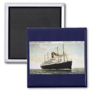 Holland-Amerika Line - Rotterdam - New York 2 Inch Square Magnet