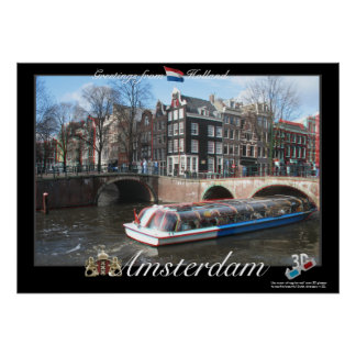 Holland Amsterdam 3D Anaglyph Poster