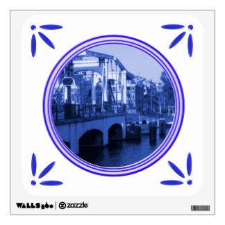 Holland Amsterdam Delft-Blue-Tile-Look Wall Sticker