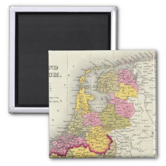 Holland And Belgium 2 Inch Square Magnet