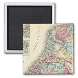 Holland and Belgium 2 2 Inch Square Magnet