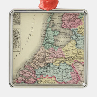 Holland and Belgium 2 Metal Ornament