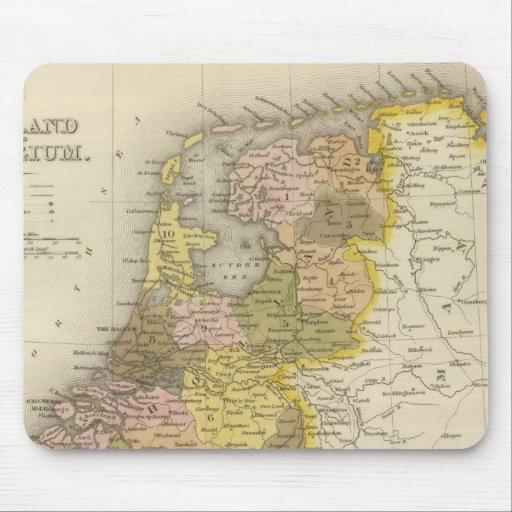 Holland And Belgium 2 Mouse Pad
