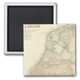 Holland and Belgium 3 2 Inch Square Magnet