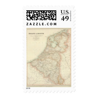 Holland and Belgium 3 Postage Stamp