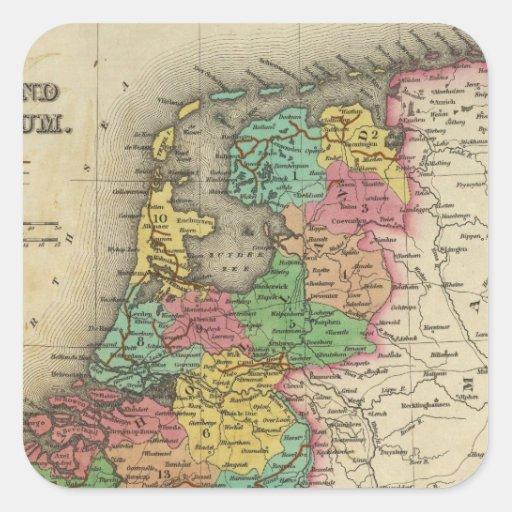 Holland And Belgium Square Sticker