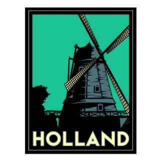 holland art deco vintage retro travel poster postcards