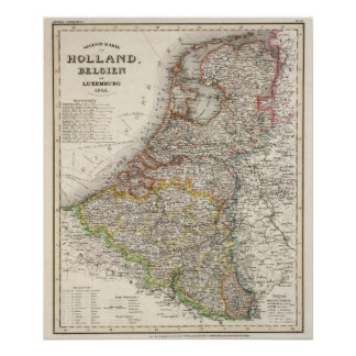 Holland, Belgium, Luxembourg Poster