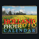 "Holland Calendar 2018<br><div class=""desc"">Holland Calendar 2018. A beautiful Holland/ Netherlands photo calendar for the next coming year 2018 with unique photo images of Holland including locations and places. January: Amsterdam - Bloemenmarkt (Flower Market), February: Rain and wind at the windmills of the Zaanse Schans in Zaandijk, March: Cityscape Haarlem &amp; St Bavo Church...</div>"