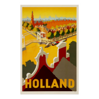 Holland Canal | Vintage Travel Poster