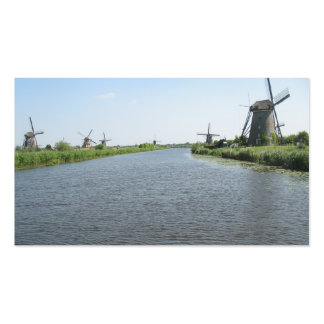 Holland Canal Windmills Small Photo Card Business Card