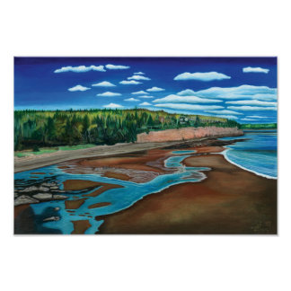 Holland Cove, Prince Edward Island- Watercolor Poster