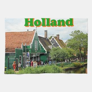 Holland: Dutch windmill village Kitchen Towels