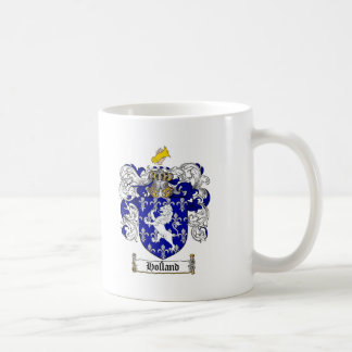 HOLLAND FAMILY CREST -  HOLLAND COAT OF ARMS MUG
