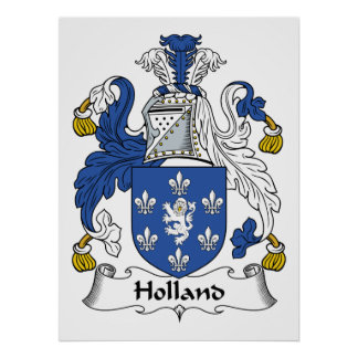 Holland Family Crest Poster