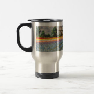 Holland Flower Landscape Painting Triptych Travel Mug