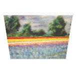 Holland Flowers Landscape Painting Triptych 1 of 3 Gallery Wrap Canvas