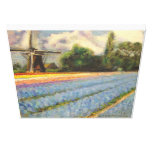 Holland Flowers Landscape Painting Triptych 2 of 3 Gallery Wrap Canvas