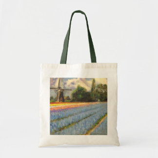 Holland Flowers Landscape Painting Triptych 2 of 3 Tote Bag