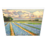 Holland Flowers Landscape Painting Triptych 3 of 3 Gallery Wrap Canvas