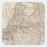 Holland, Friesland, Groningen, Overyssel Square Sticker