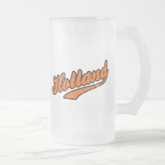 Holland Frosted Glass Beer Mug