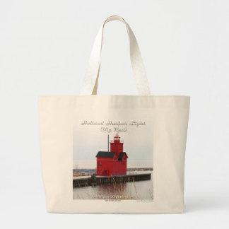 Holland Harbor Light (Big Red) - Large Tote Bag