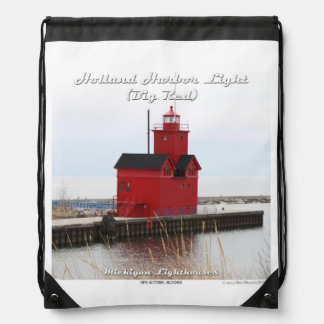 Holland Harbor Light - Drawstring Backpack