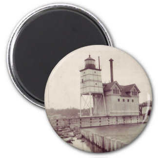 Holland Harbor Lighthouse 2 2 Inch Round Magnet