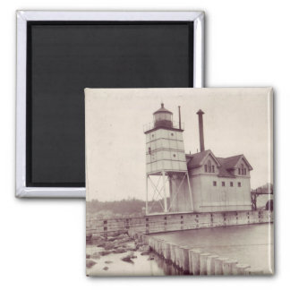 Holland Harbor Lighthouse 2 2 Inch Square Magnet