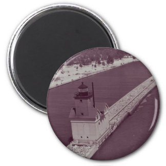 Holland Harbor Lighthouse 2 Inch Round Magnet