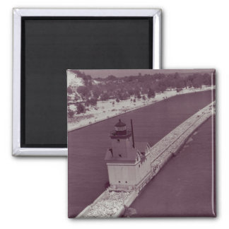 Holland Harbor Lighthouse 2 Inch Square Magnet