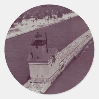 Holland Harbor Lighthouse Classic Round Sticker