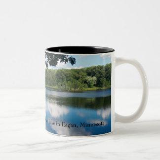 Holland Lake Scenic in Eagan Two-Tone Coffee Mug