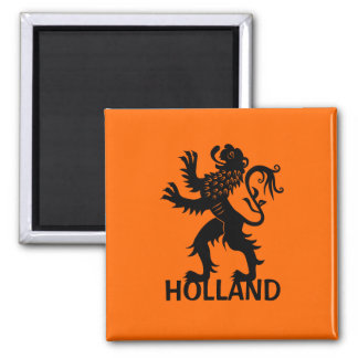 Holland Lion 2 Inch Square Magnet