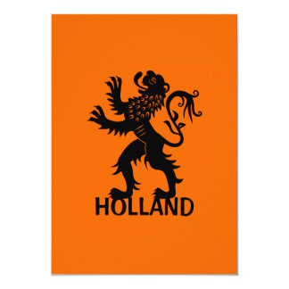 Holland Lion 5x7 Paper Invitation Card