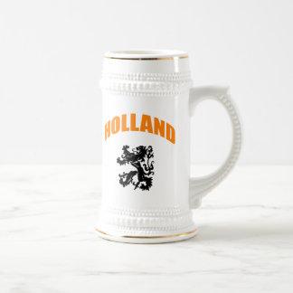 Holland lion beer stein