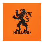 Holland Lion Gallery Wrapped Canvas